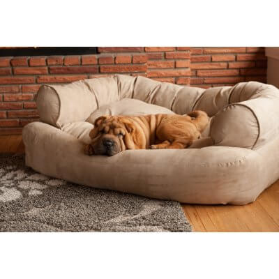 Snoozer Pet Products - Overstuffed Sofa Dog Bed - Peat