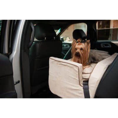 Luxury Snoozer Lookout II Pet Car Seat - with storage tray