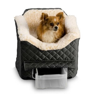 Snoozer Lookout II Pet Car Seat - Large - Black (up to 15 kg) with storage tray