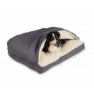 Snoozer Cozy Cave® Dog Bed - RECTANGLE - Poly Cotton-Heather Grey-Medium