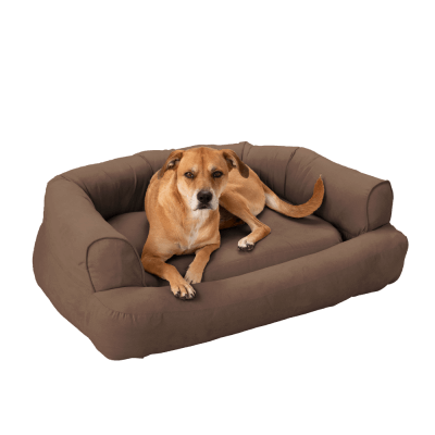 Snoozer Pet Products - Luxury Orthopedic Sleeper Sofa with Memory Foam - Dark Chocolate