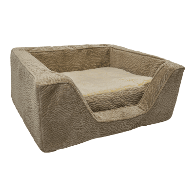 Snoozer Pet Products - Luxury Orthopedic Square Bed with Memory Foam - Piston Sand