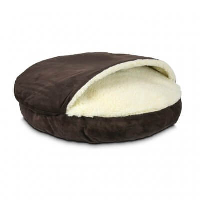 Snoozer Cozy Cave Large - Hot Fudge