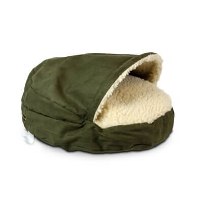 Snoozer Cozy Cave Large - Olive Luxury - 89 cm