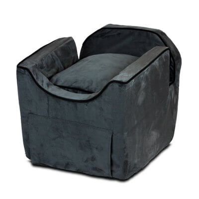 Luxury Snoozer Lookout II Pet Car Seat - Large - Anthracite (up to 15 kg) - with storage tray