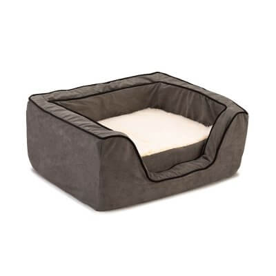 Snoozer Pet Products - Luxury Orthopedic Square Bed with Memory Foam - Anthracite