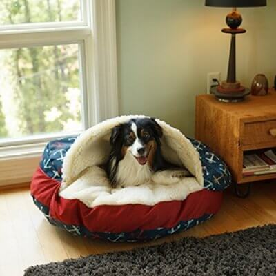 Snoozer Cozy Cave® Dog Bed - ROUND - WAG (water resistant)