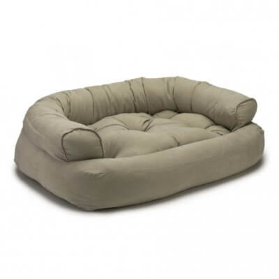 Snoozer Pet Products - Overstuffed Sofa Dog Bed - Bucksin