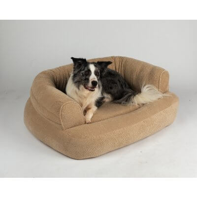Snoozer Pet Products - Luxury Orthopedic Sleeper Sofa with Memory Foam - Piston Sand (Showdog)