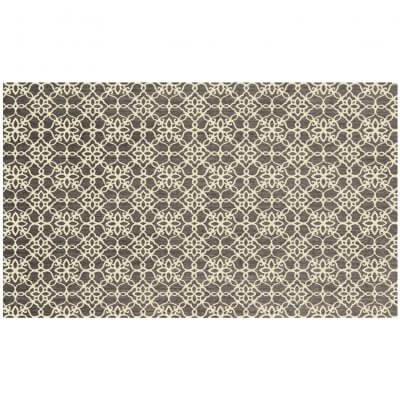 Ruggable - Floral Tiles Aqua Grey & White (90 cm x 150 cm)