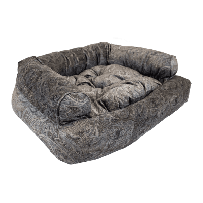 Snoozer Pet Products - Overstuffed Sofa Dog Bed - Laurel Mocha (Show Dog)