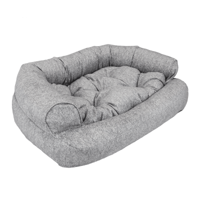 Snoozer Pet Products - Overstuffed Sofa Dog Bed - Palmer Dove (Show Dog)