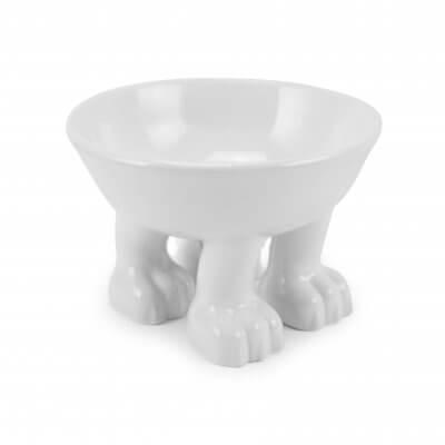 White Pet Supplies Original Dylan Kendall Ceramic Cat Or Dog Bowl Large