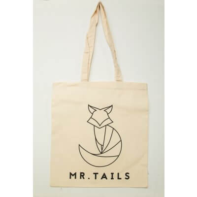 Canvas tote bag 100% cotton - with MR. TAILS logo