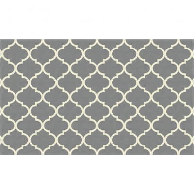 Ruggable. Washable Rug - Moroccan Trellis Grey (90 cm x 150 cm)