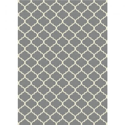 Ruggable Washable Rug - Moroccan Trellis Grey (150cm x 210 cm)