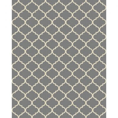 Ruggable - Moroccan Trellis Grey (240 cm x 300 cm)