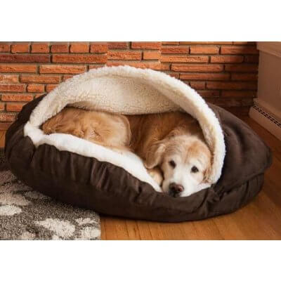 Snoozer Cozy Cave® Dog Bed - ROUND - Poly Cotton