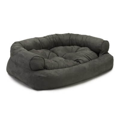 Snoozer Pet Products - Overstuffed Sofa Dog Bed - Anthracite