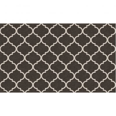Ruggable Washable Rug - Trellis Gate Rich Grey & White (90 cm x 150 cm)