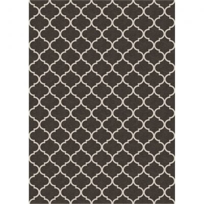 Ruggable Washable Rug - Trellis Gate Rich Grey & White (150cm x 210 cm)