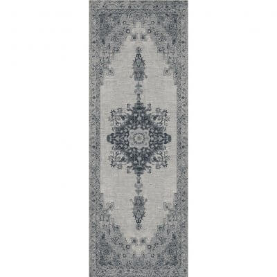 Ruggable Washable Rug - Parisa Grey (67 cm x 210 cm)