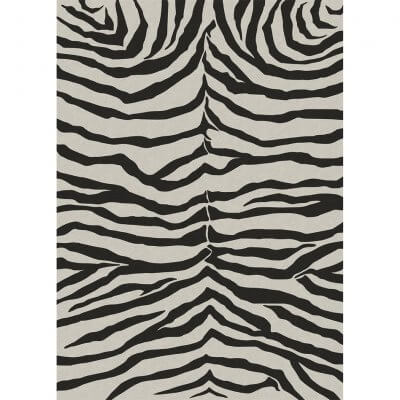 Ruggable - Zebra Safari Black (150cm x 210 cm)